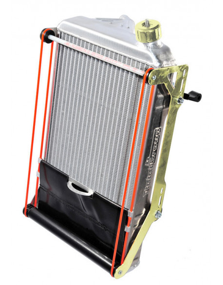 Racing radiator assy with curtain gold