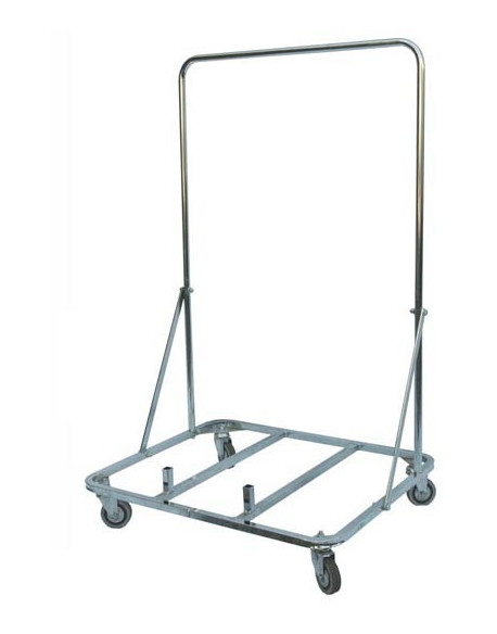Vertical stand with wheels