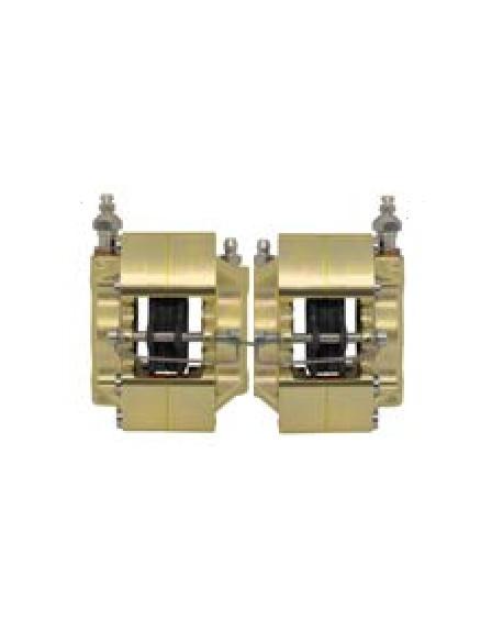 Front brake caliper UP/V05 iron right gold