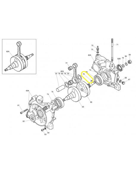 Chiavetta volano/pignone per motore IAME X30