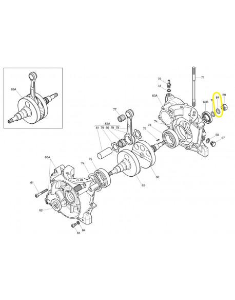 Kit of 20 round washers 10.5x18x0.8 for IAME X30 engine