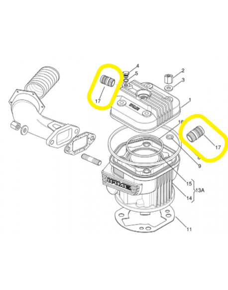 Water connection for IAME X30 engine