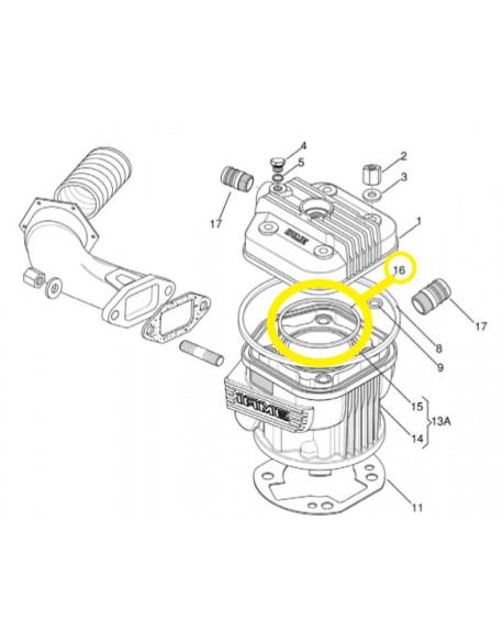 Head gasket O-RING 3237 IAME X30