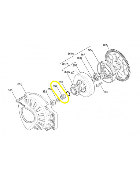 Clutch roller cage for IAME X30 engine