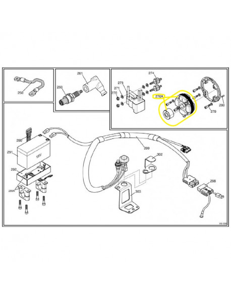 Selector switch for IAME X30 125cc and 175cc SUPER X30 engine (from 2016)