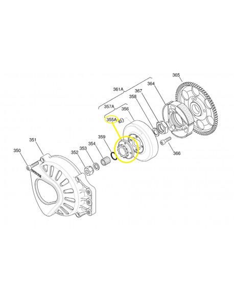 Pignone con viti, per motore IAME X30