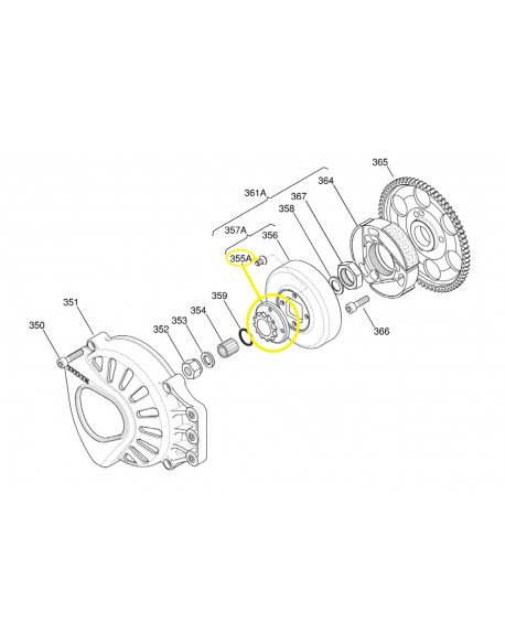 Pinion with screws, for IAME X30 engine