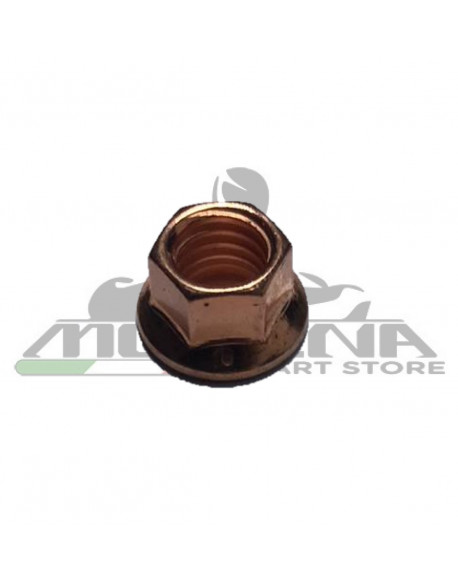 Nut M8 CH10 Copper Flanged