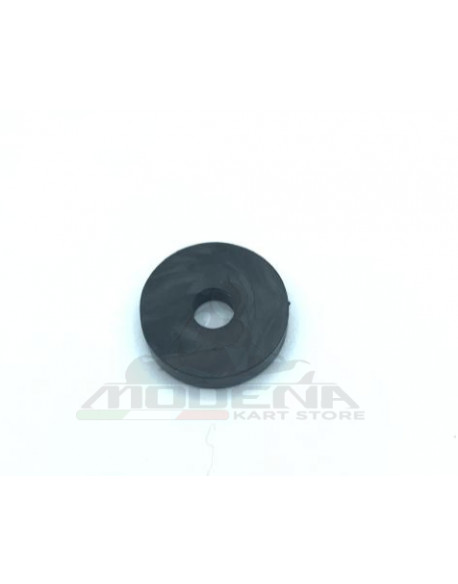 Rubber Washer D.20mm, Hole 6mm, h.4mm, Black