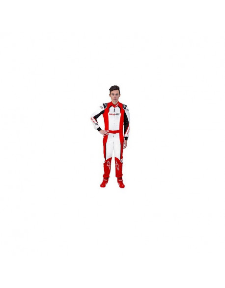 BIREL ART KART SUIT (NO SPONSOR) WITH NAME EMBROIDERY ON BACK AND 2 LEGS + BELT