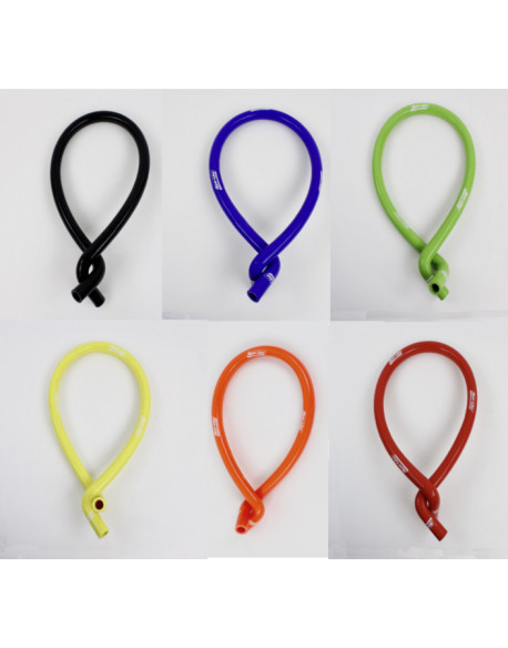 DOUBLE CURVE SILICONE TUBE, COLORED
