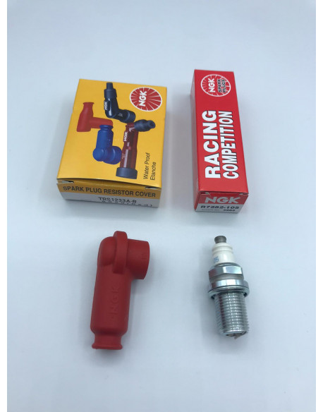 CAPPUCCIO CANDELA NGK TRS1233A-R + CANDELA NGK R7282-105