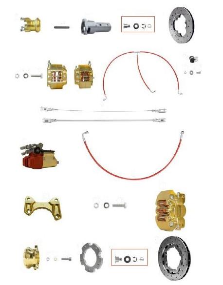 Brake system KZ V11 192 gold