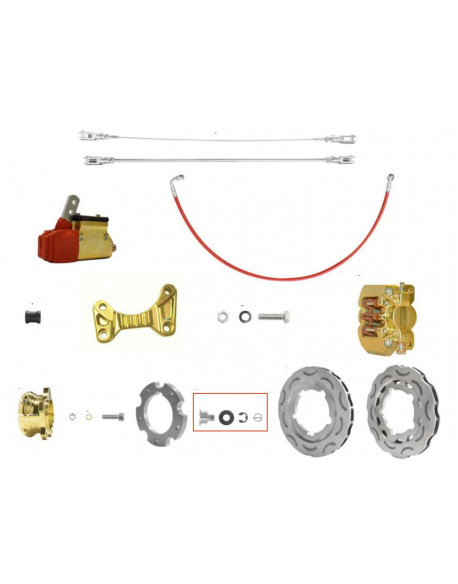 Brake system OKJ V09 DUR.189 gold