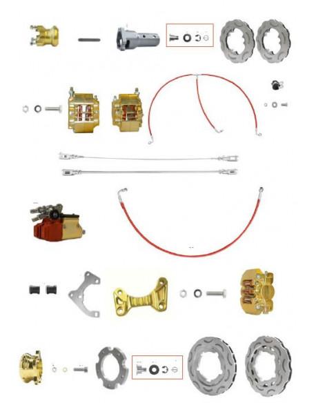 Brake system KZ V09 195 gold