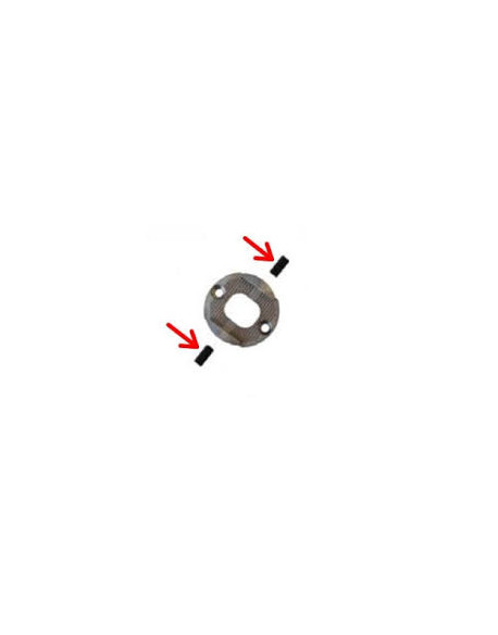 Grub screw M 5x10 double caster (set)