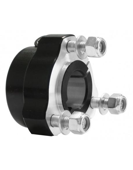 Rear hub 25x 40 black complete