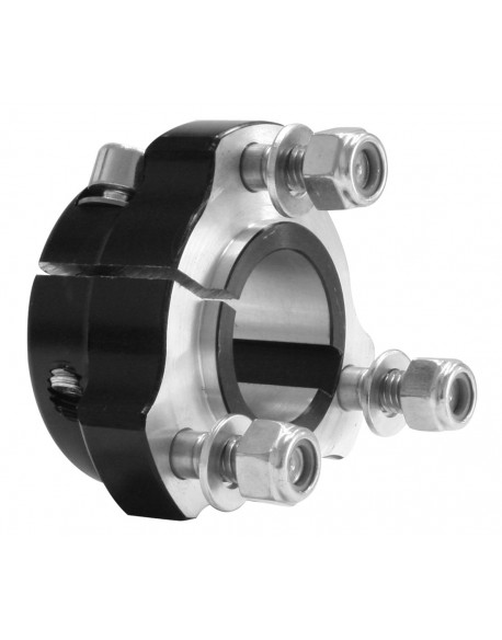 Rear hub 30x 35 black complete