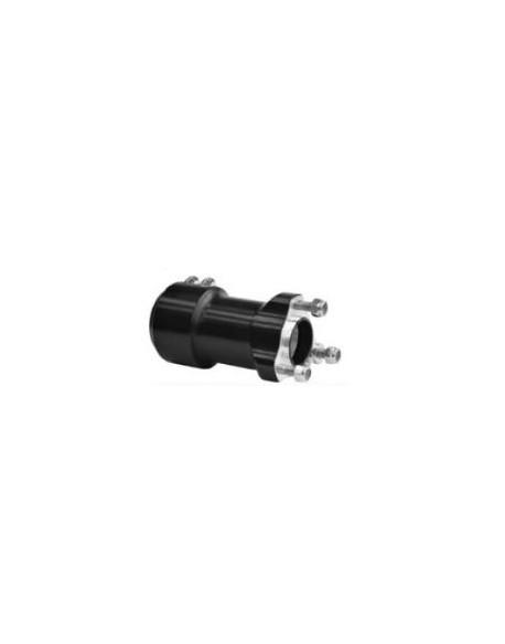 Rear hub 40x125 black 2 screws compl.