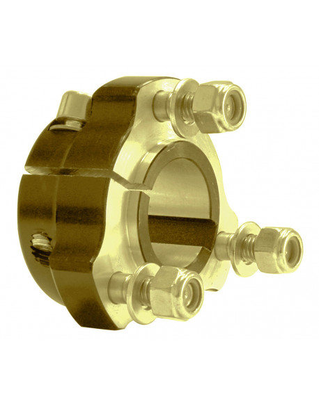 Al. rear wheel hub 25 x 75 gold comp.