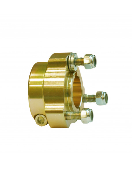 Al. rear wheel hub 30 x 40 gold comp.