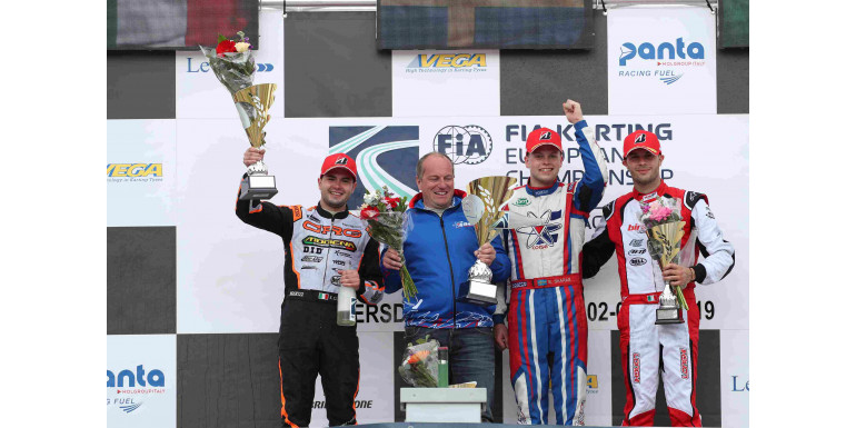 GREAT PODIUM FOR SIMONE CUNATI WITH MODENA KART IN WACKERSDORF FOR THE KZ2 EUROPEAN CHAMPIONSHIP