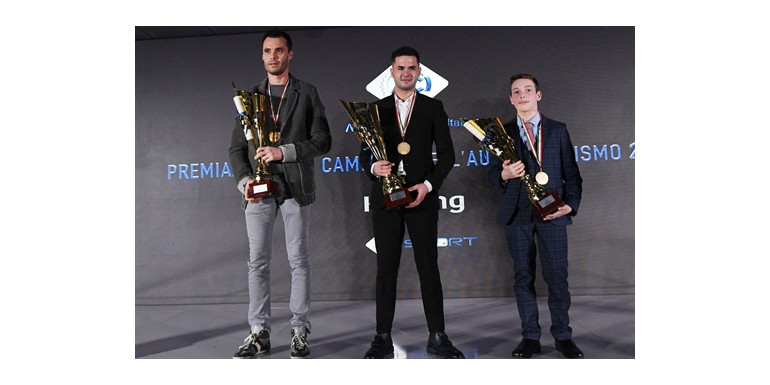 Awards were given to the winners of the Italian ACI Karting Championships
